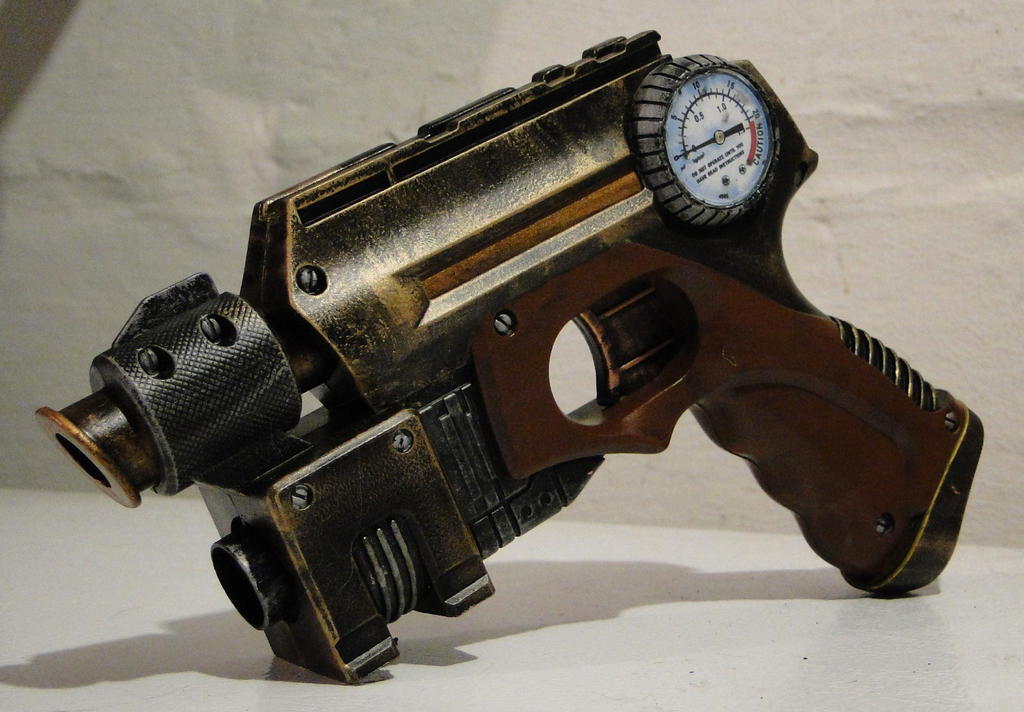 Steampunk theater prop pistol2 by Hypercats