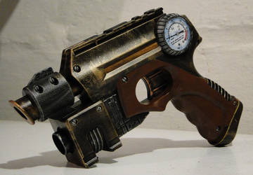 Steampunk theater prop pistol2 by Hypercats