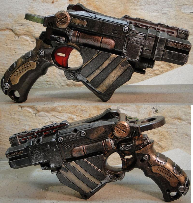 Nerf Proton Steampunk sidearm by Hypercats
