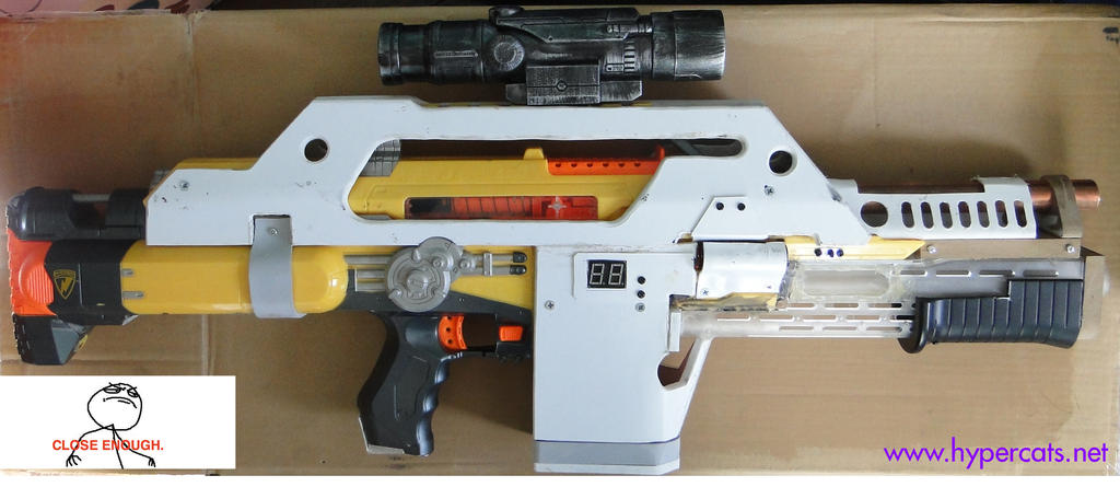 nerf_stampede_pulse_rifle_by_meowymeowmeow-d5217ip.jpg (1024×445) | Prop  Builds and Ideas | Pinterest | Nerf stampede and Guns