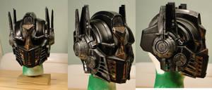 Steampunk Optimus Prime Voice Changer Helmet