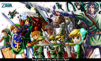 The Legend of Zelda by Archaois