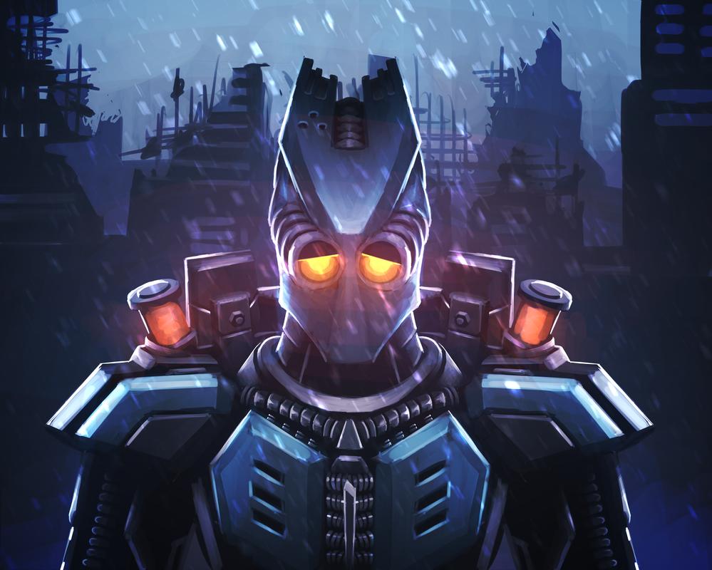The Sad Robot by ZeusDex