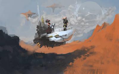 Wandering in the floating desert