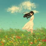 Warm summer breeze
