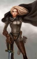 Zeria the Knight by leeyiankun