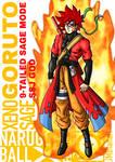 Xeno Sage Goruto 9 tailed Sage Mode SSJ God