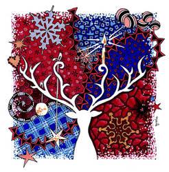 Weihnachtshirsch Tangle