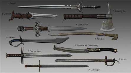 Skyrim - Ghosu's Weapon Pack Mod by LeckerHamster