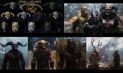 Skyrim Mod: Skull Helmets by LeckerHamster