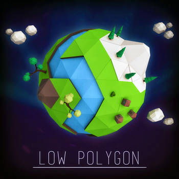 Low Poly Planet by LeckerHamster