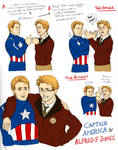 Captain America and Alfred F. Jones