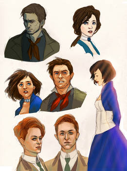 Bioshock Infinite sketches