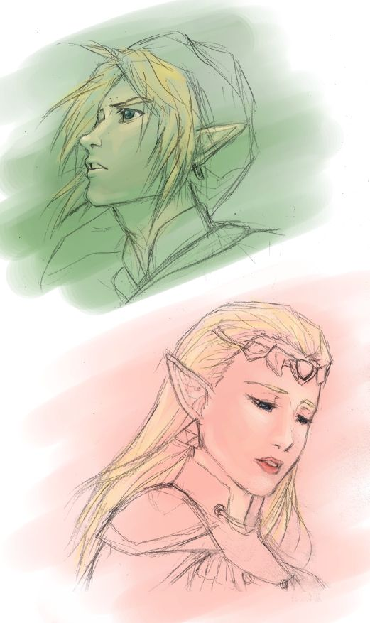 distance - Link and Zelda by bluestraggler