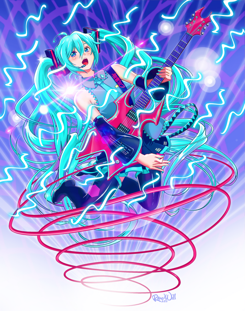 Miku Guitar Queen by Randwill