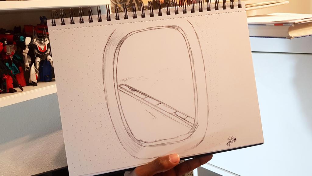 Plane Window View Sketch By Artbyajeevan On Deviantart
