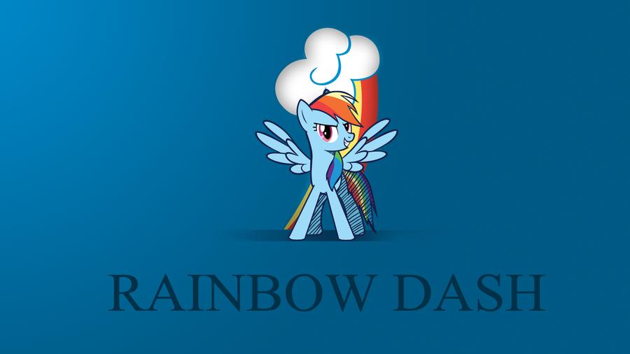 Minimalist Wallpaper - Rainbow Dash by Zoekleinman on deviantART