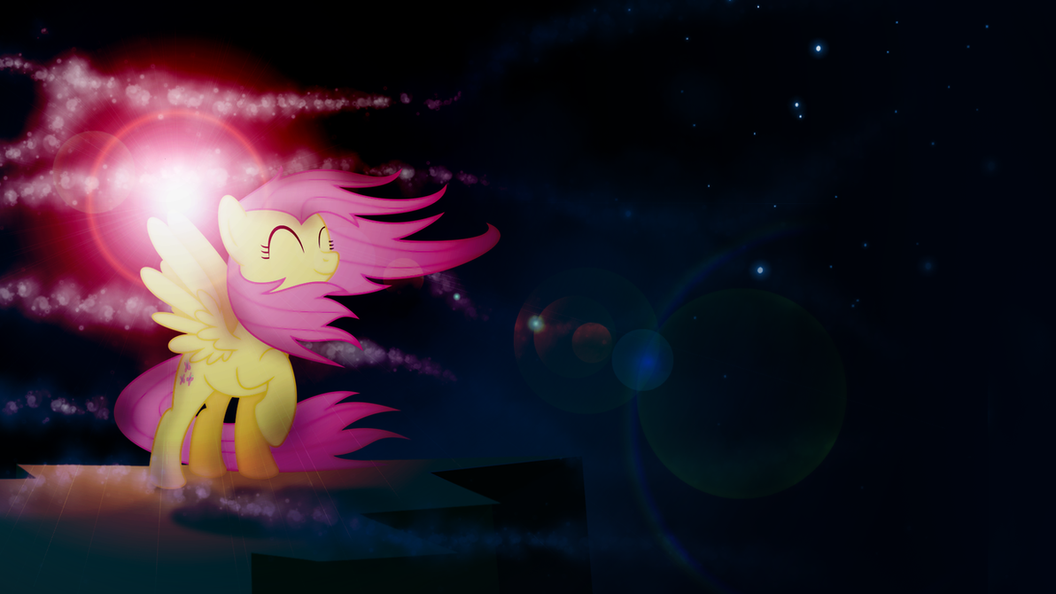 Colors in the wind - Fluttershy Wallpaper by Zoekleinman