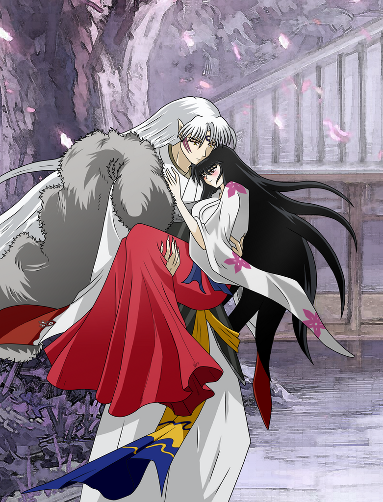 Anime Characters Named Rin : Lord sesshomaru and lady rin love by inu sessh on