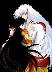 Rin and Sesshomaru (Hug)