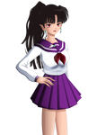 Kagura Schoolgirl by inu-sessh-rin