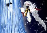 (Yashahime) Rin and Sesshomaru