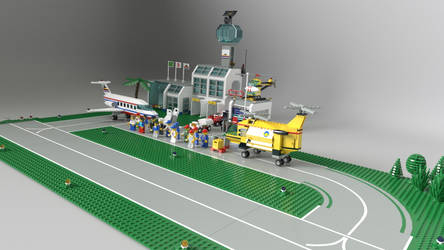 Mistura de aeroportos Lego - Lego airports fusion