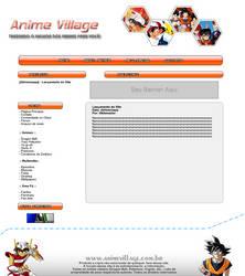 Layout para site de animes