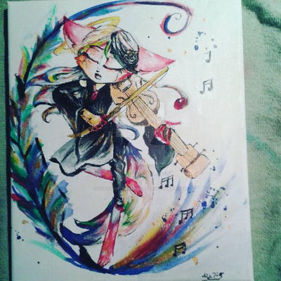 Fallen angel of music by StarlightArchangel
