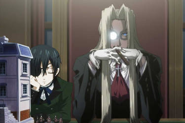 Ciel Phantomhive and Integra F.W. Hellsing by chook-four