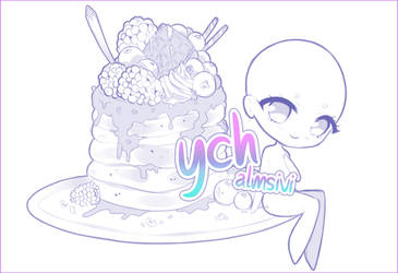 .blueberry pancake. SET PRICE YCH [CLOSED] by aImsivi