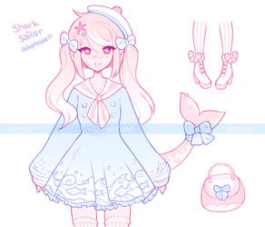 .Sailor Shark. ADOPTABLE [CLOSED]