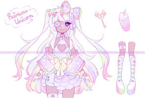 .Rainbow Unicorn. ADOPTABLE [CLOSED]