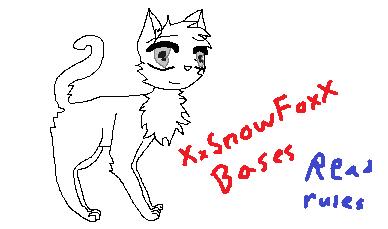 Cat base by XxSnowFoxX
