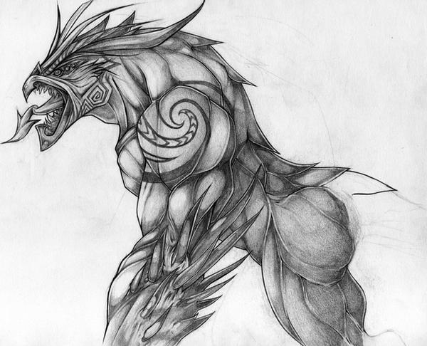 Taniwha Sketch By Kiwi anim8a On DeviantArt