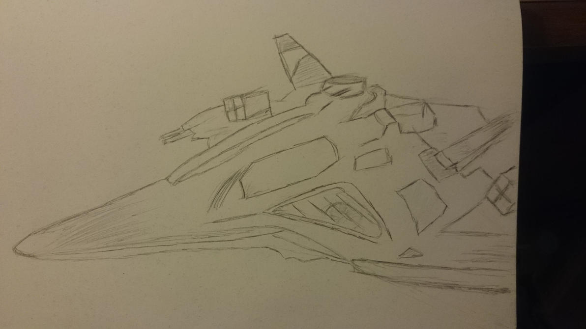 Destiny Spaceship (?) by DrawingMasterPeace