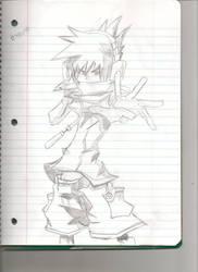 Neku Fan-Art-Pencil