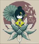 Kokeshi doll lotus