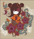 Kokeshi doll sakura