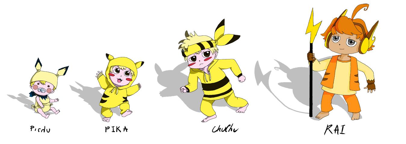 pokemon starter gijinka pika by shavingsheep on deviantart