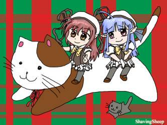 Shuffle_Nerine_Sia_Christmas by ShavingSheep