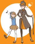 Genderbend Professor Layton: Luke and Layton