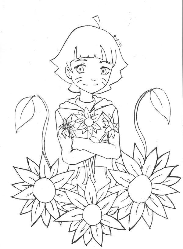 Adorable Sunflower Child by fryzylstyk
