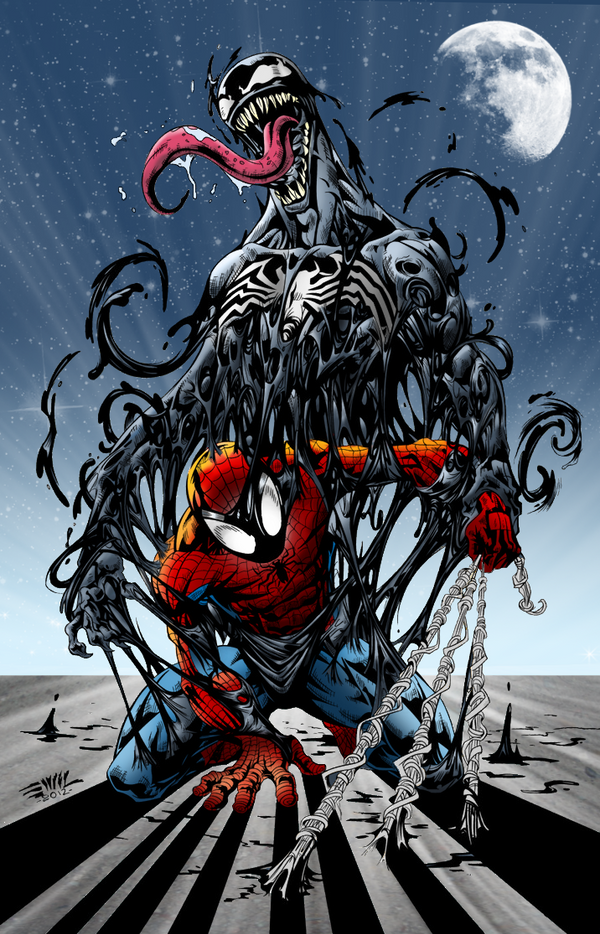 Spider man and venom marvel by andreranulfo