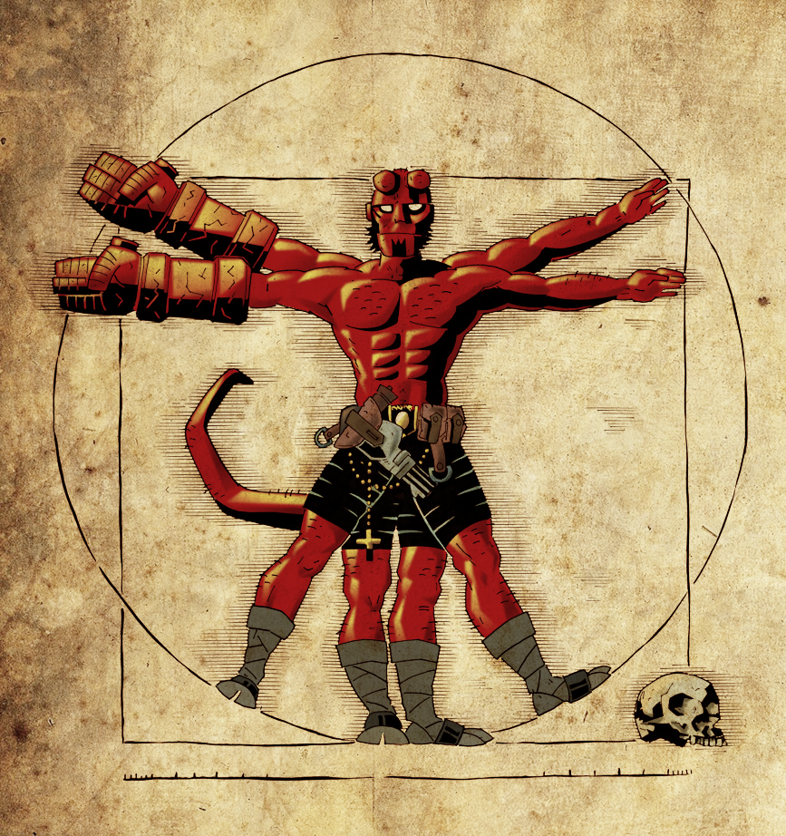 Coloring Pages Hellboy Coloring Pages deviantart more like coloring vitruvian hellboy v 1 2 by andreranulfo
