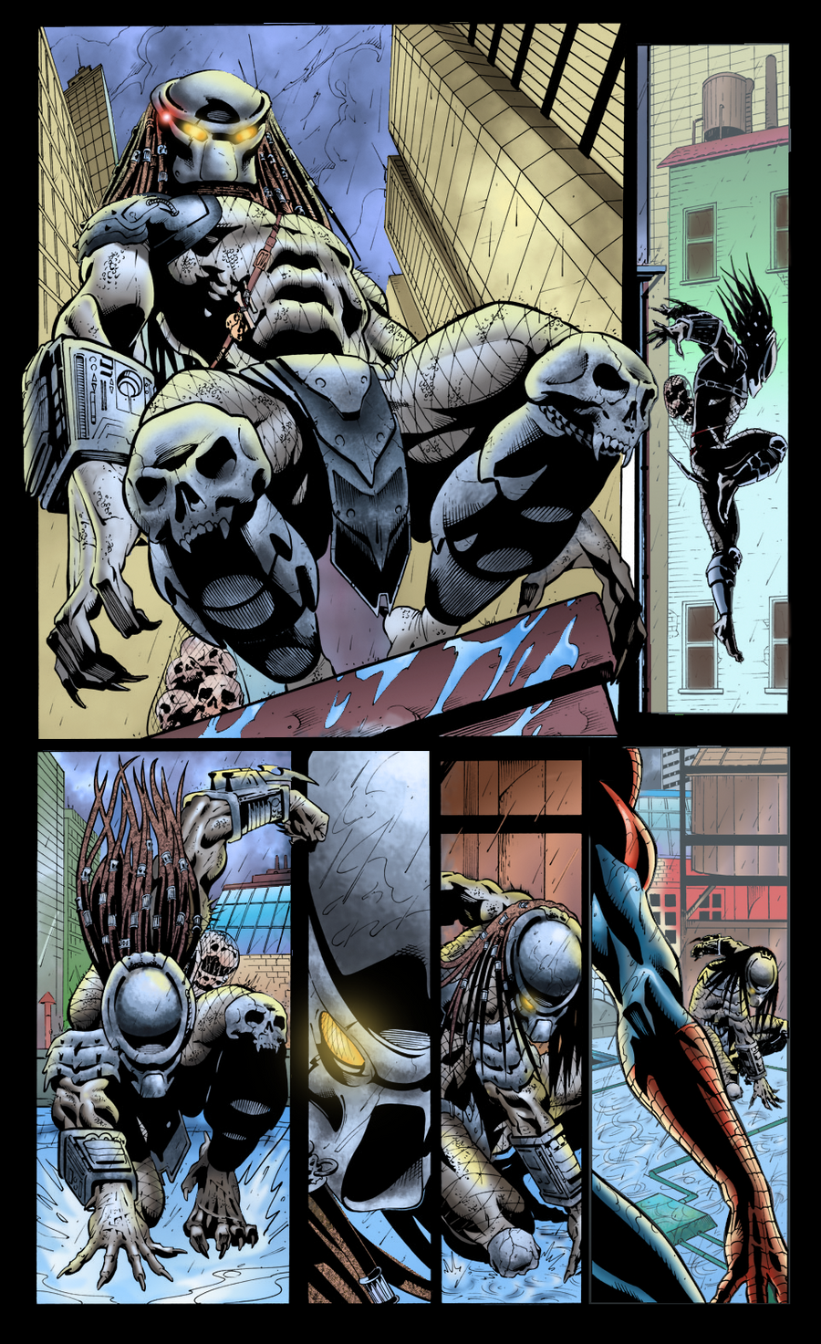 Coloring - Predator Vs Spider Man - Sequential Art by ...