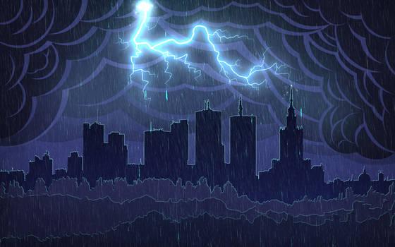 Warsaw Storm Skyline Wallpaper
