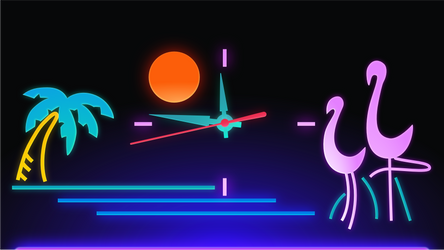 Flamingo Black Light
