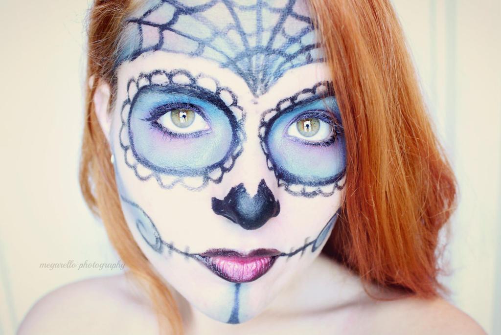 Blue Sugar Skull by Megarello