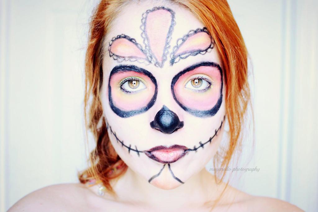 Red Sugar Skull by Megarello